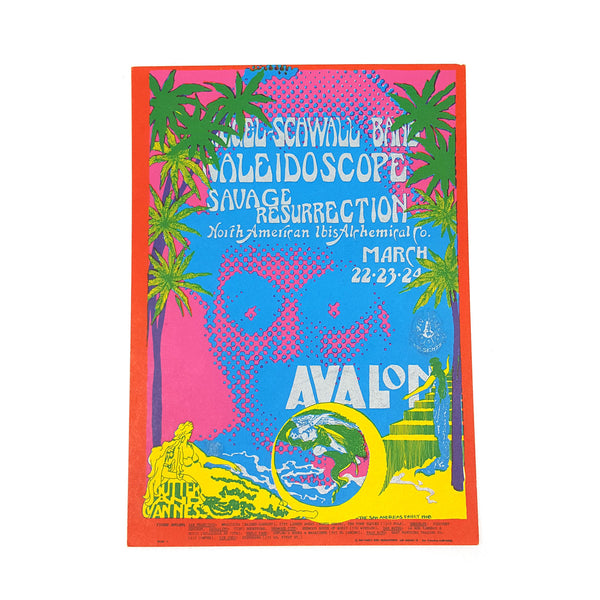 Avalon Ballroom Postcard - Kaleidoscope, Savage Resurrection