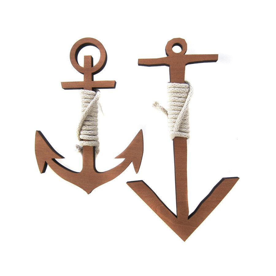 WOODCUTS - ROPED ANCHOR