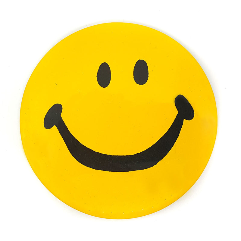 "Original Vintage 4"" Smiley Button!"