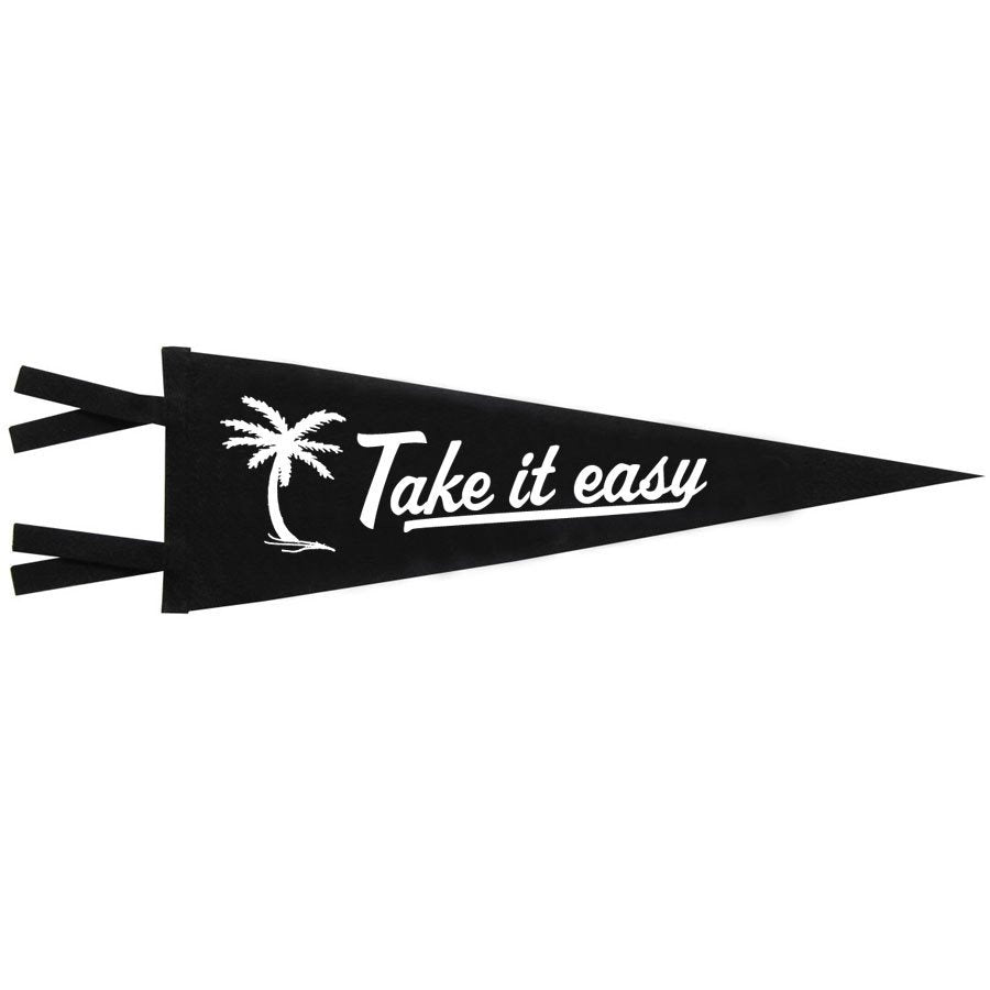 vintage style felt pennant banner flag take it easy