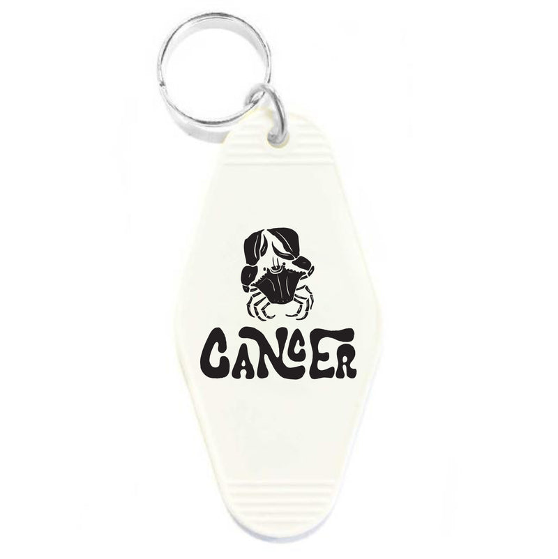 CANCER KEY TAG - WHITE