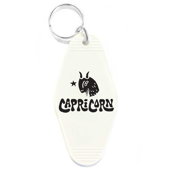 CAPRICORN KEY TAG - WHITE