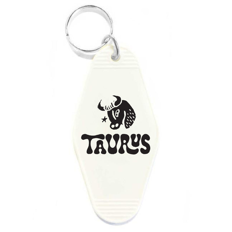 TAURUS KEY TAG - WHITE