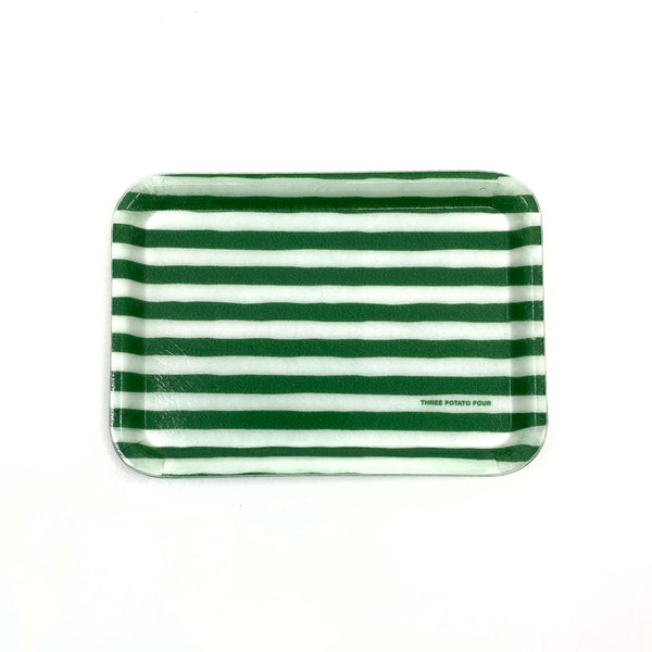 Green Stripes - Small Trinket Tray (Pre-Order)