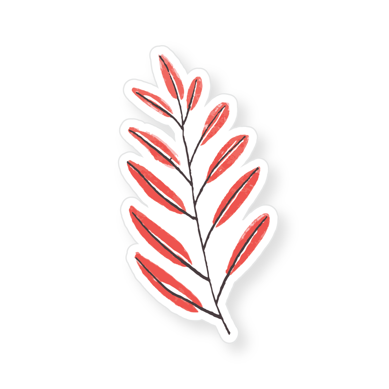 Sticker - Red Leaves