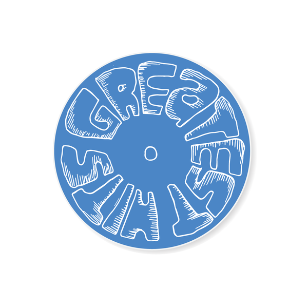 Sticker - LP - Blue / White