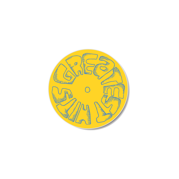 Sticker - LP - Yellow / Blue
