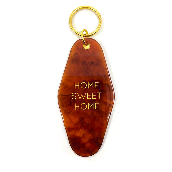 Home Sweet Home Key Tag - Amber Tortoise
