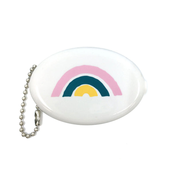 Coin Pouch - Rainbow (White)