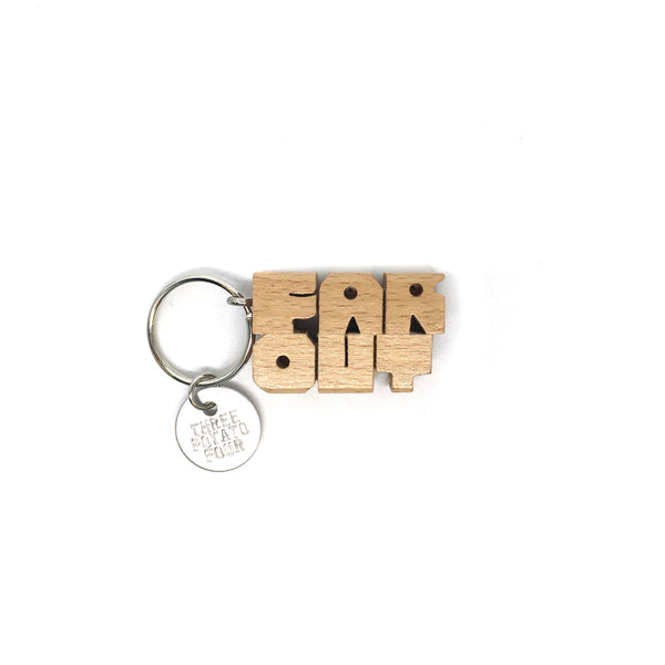 Wooden Keychain - Far Out