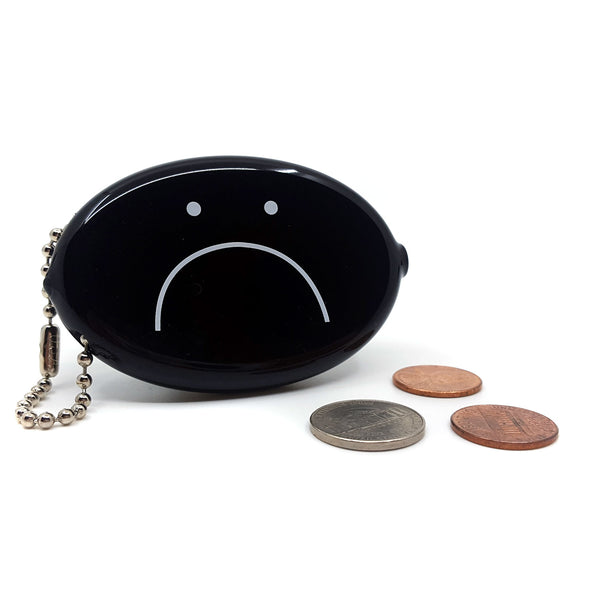 Coin Pouch - Frowny Face (Black)