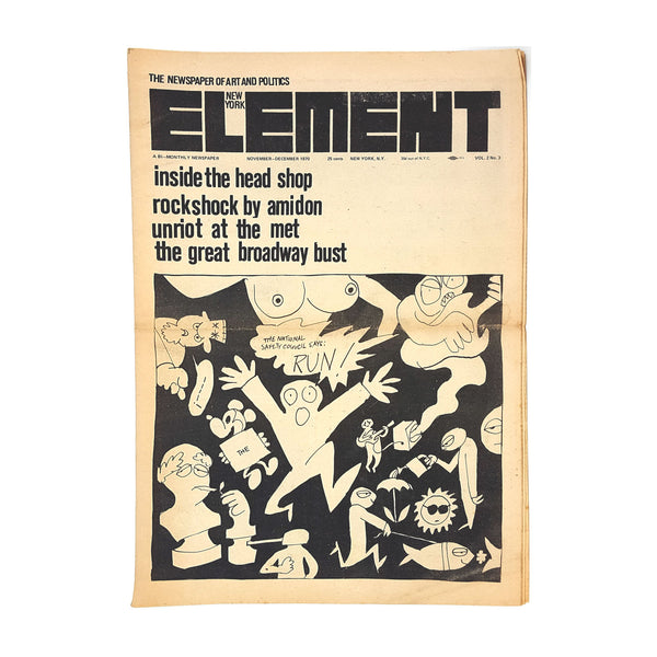 NY Element Underground Counterculture Newspaper