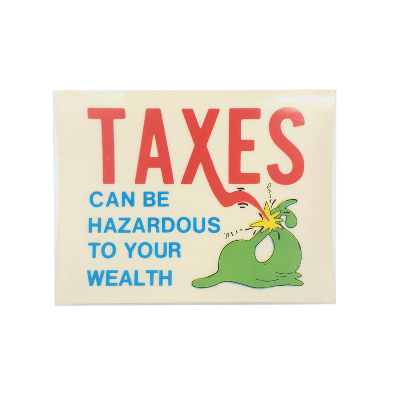 Taxes Sticker