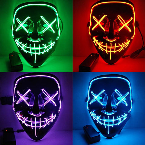 Halloween LED Purge Mascara Costume Mask  Glow In Dark