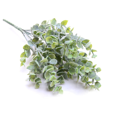 7 Branches/bouquet Artificial Eucalyptus Succulent Plant DIY Winter Fake Leaves White Green Wedding Home Decoration Craft Flower