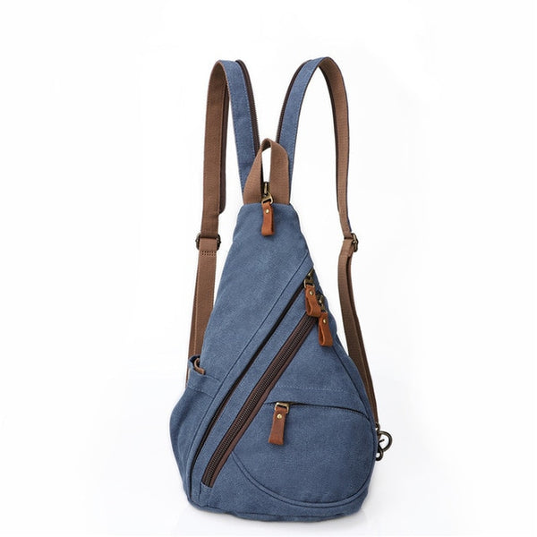 Crossbody bag for men high quality waterproof canvas backpack