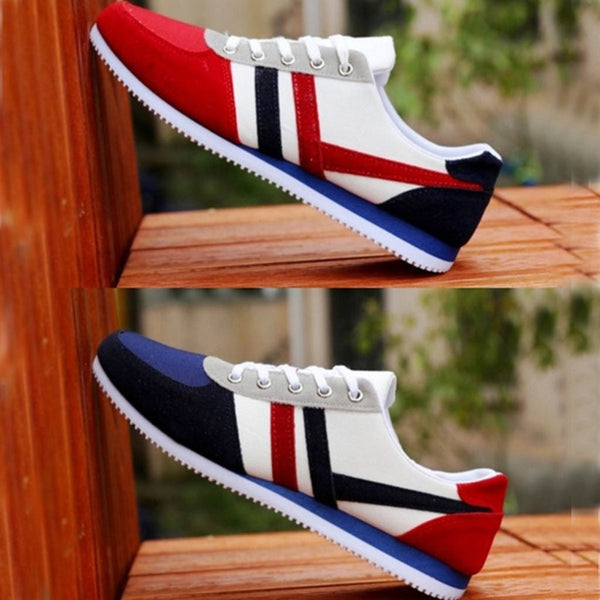 Men Shoes shallow man sneakers mixed color Fashion Men's Lace Up Sports Loafers Casual Unisex Sneakers Flat Canvas Shoes