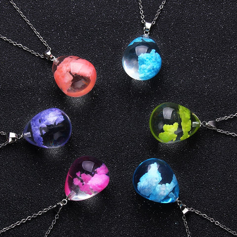 Trendy Transparent Resin Waterdrop Shape Pendant
