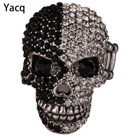 YACQ Skull Stretch Ring Women Girls