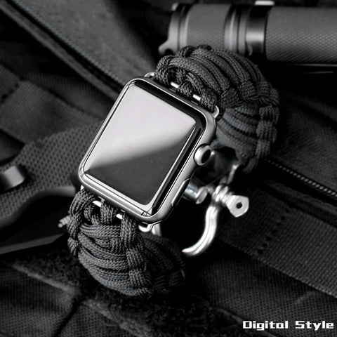 Sport watch band For apple with Survival Rope