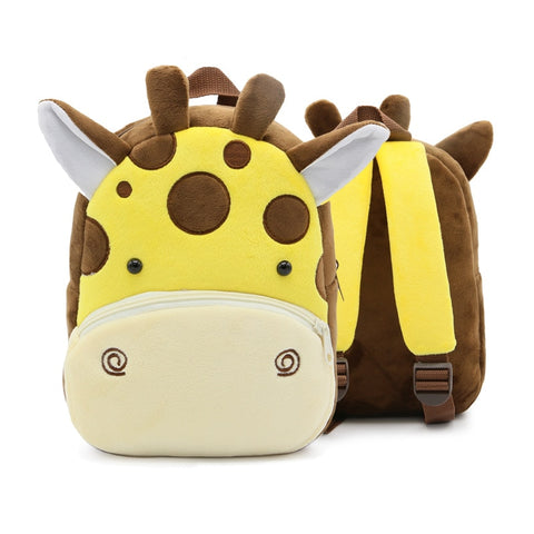 Lion Shark Bee Monkey Mini Schoolbag Backpack for Children New Cartoon Kids Plush Backpacks School Bags Girls Boys 15 Colors