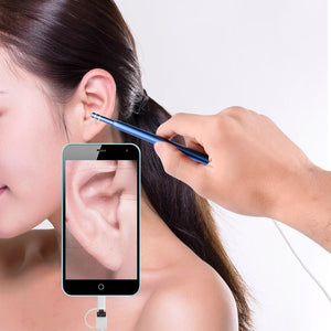 Ear Cleaning Endoscope 2 in1 USB HD Visual Ear Spoon 5.5mm Mini Camera Android PC Ear pick Otoscope Borescope Tool Health Care