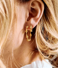 Afbeelding in Gallery-weergave laden, ANNA+NINA Anna+Nina Eden Hoop Earring Brass Gold Plated - A Lovely Day IJmuiden