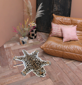 Doing Goods Doing Goods kleed Leopard Tapis Amis Rug Small - A Lovely Day IJmuiden