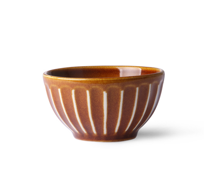 HKliving HKliving kyoto ceramics striped bowl - A Lovely Day IJmuiden