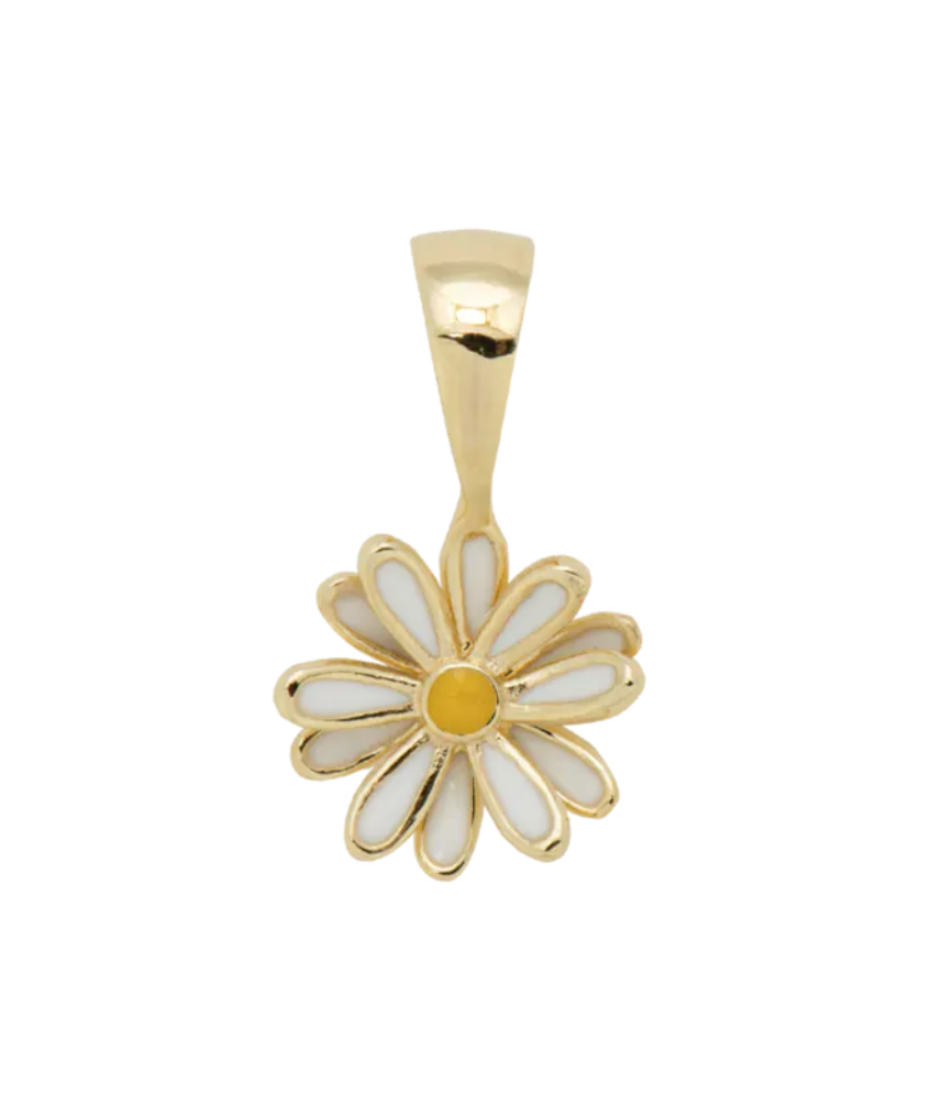 ANNA+NINA ANNA+NINA Daisy Necklace Charm Goldplated - A Lovely Day IJmuiden