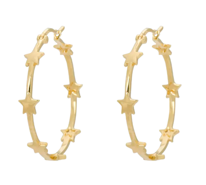ANNA+NINA Anna+Nina Nova Hoop Earrings Goldplated - A Lovely Day IJmuiden