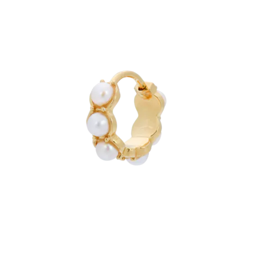Anna+Nina Oorbel Single La Perla Ring Earring