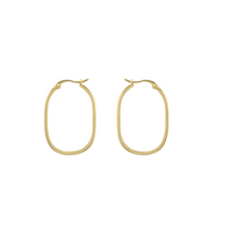 Afbeelding in Gallery-weergave laden, ANNA+NINA Link Hoop Earring Goldplated