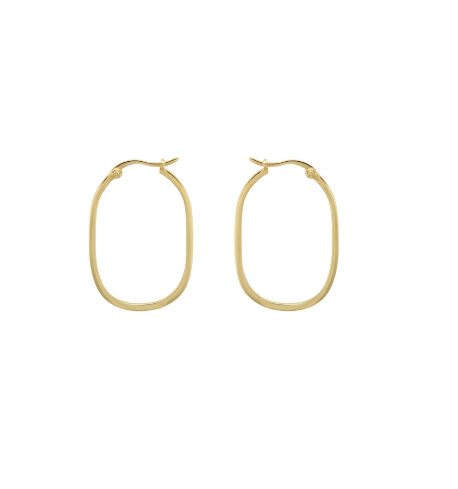 ANNA+NINA Link Hoop Earring Goldplated