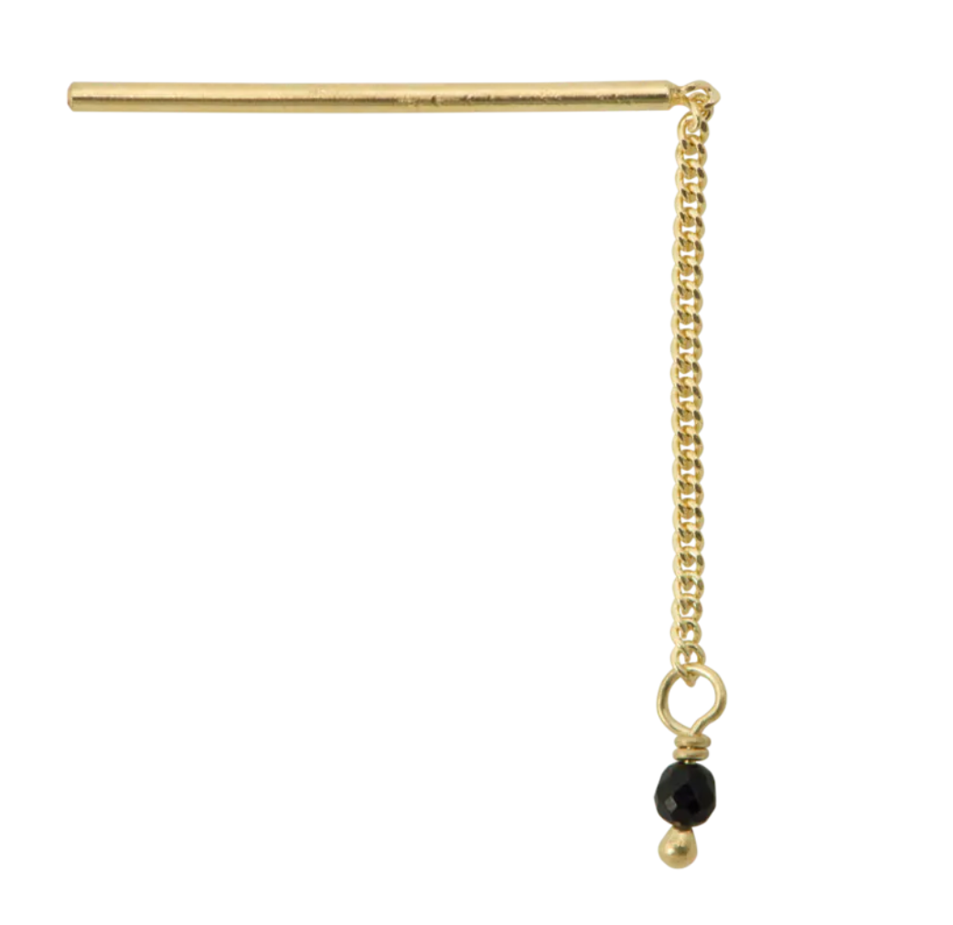 anna-nina-single-meteorite-drop-earring-goldplated