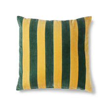 Afbeelding in Gallery-weergave laden, HKliving HKliving Striped Cushion Velvet Green/Mustard - A Lovely Day IJmuiden