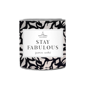 The Gift Label Geurkaars Stay Fabulous Fresh Cotton
