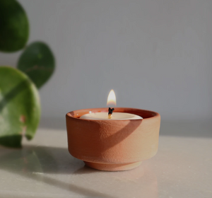 The Very Good Candle Company Tealights & Terracotta Holder