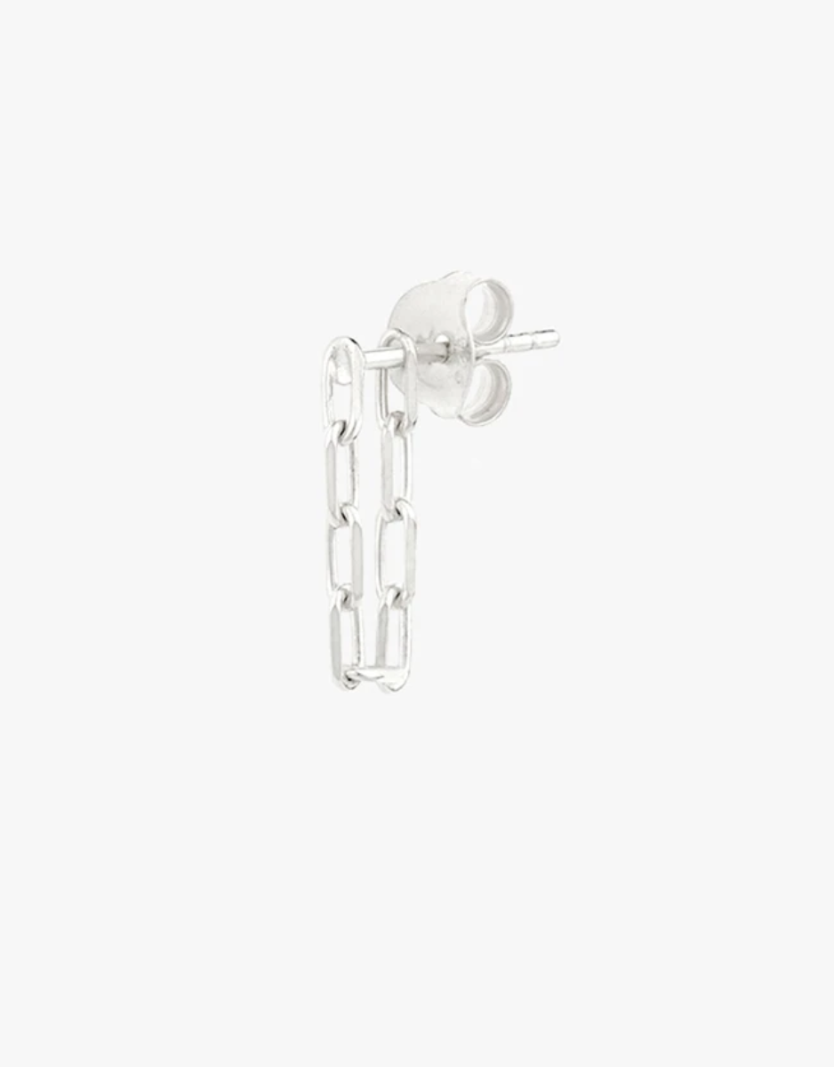 Wildthings Collectables Wildthings Collectables Chain Earring Silver - A Lovely Day IJmuiden