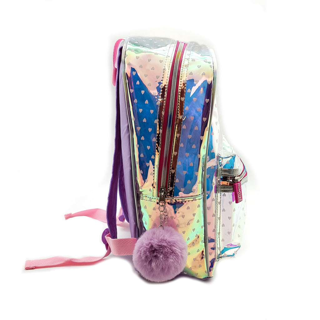 Fashion Shiny Heart Pattern Backpack With Hard case