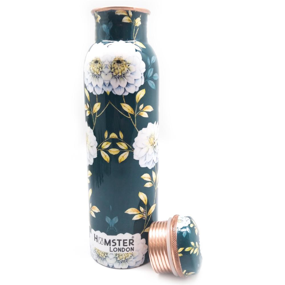 Printed Copper Bottle Floral