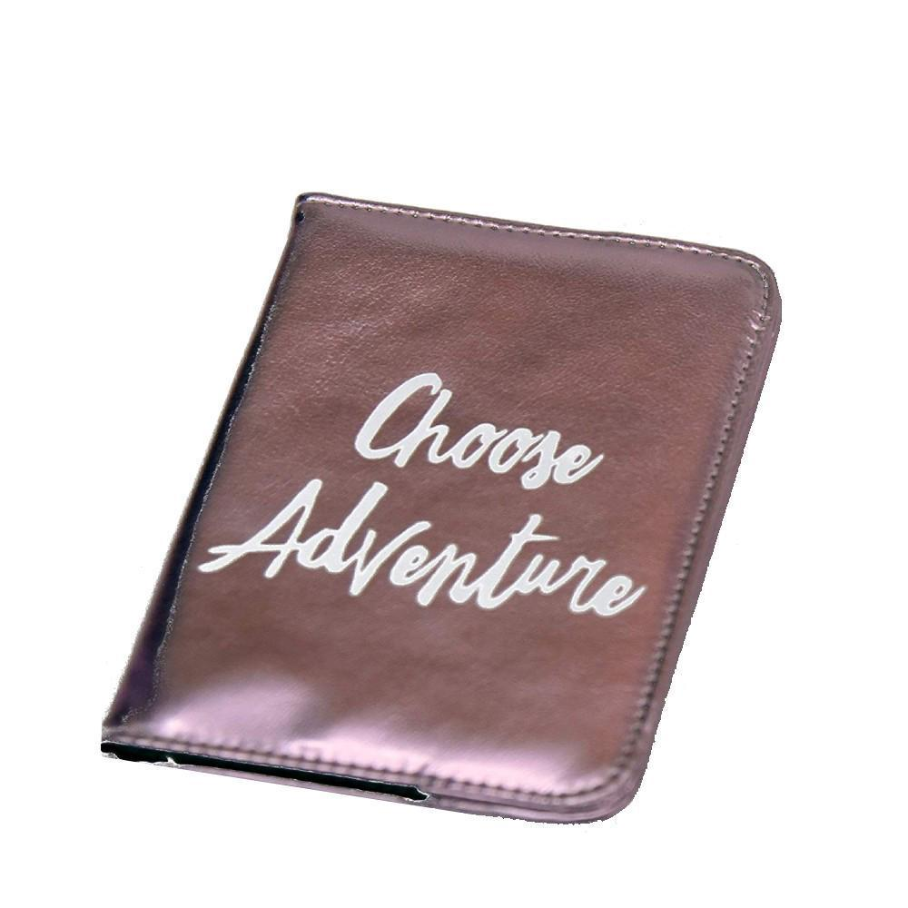 Passport Cover Choose Adventure Light Pink
