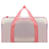 Shiny Duffle Bag Pink With Mini Fan