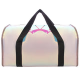 Shiny Duffle Bag Black With Mini Fan