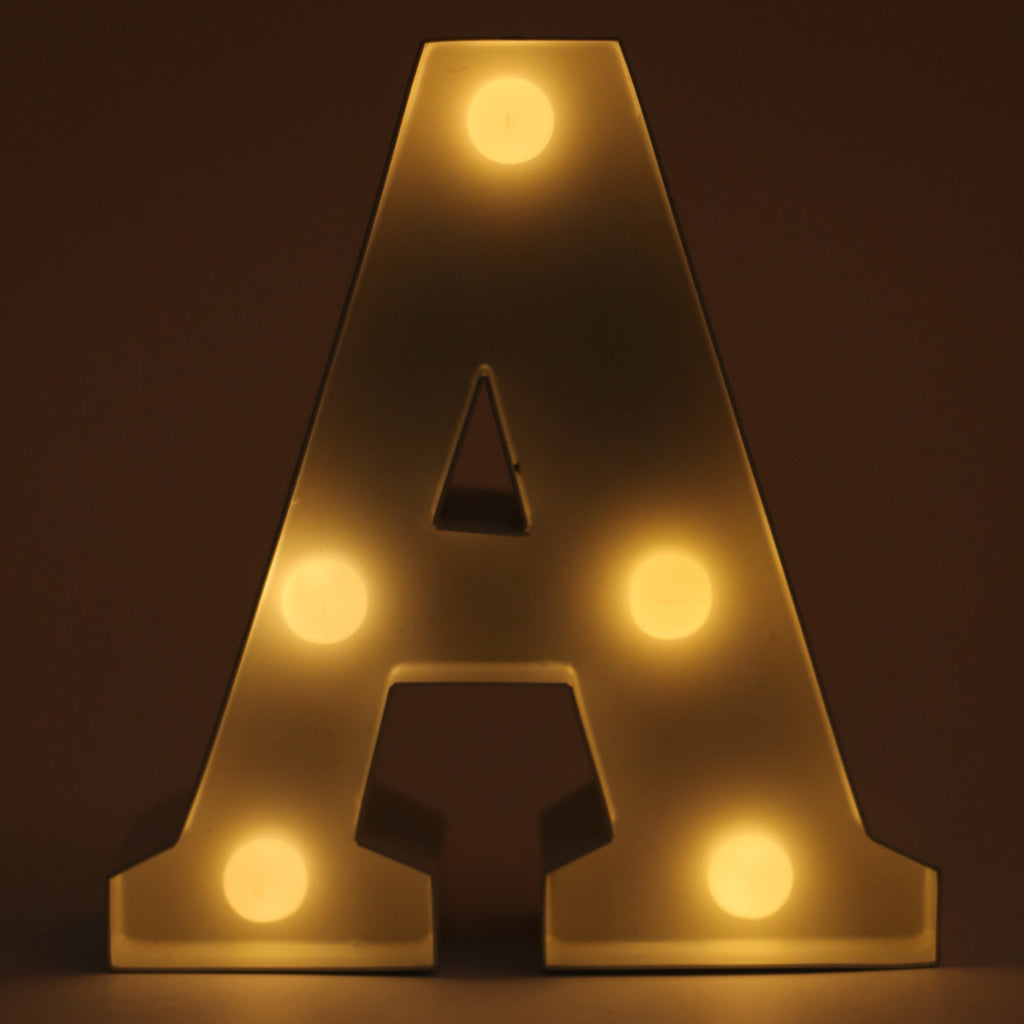 A letter shaped light from Hamster London for decoration purposes. it is a must have product for parties and kids bday party.