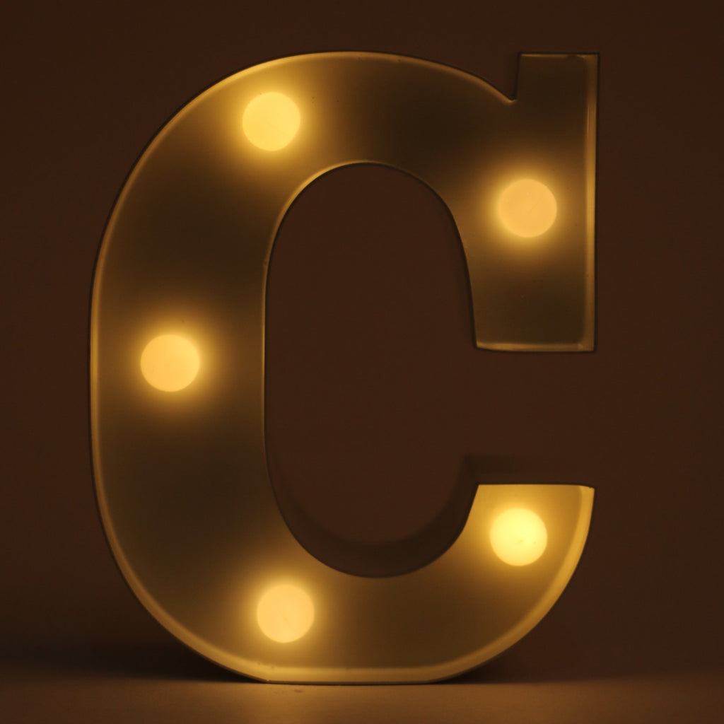 C letter shaped light from Hamster London for decoration purposes. it is a must have product for parties and kids bday party.