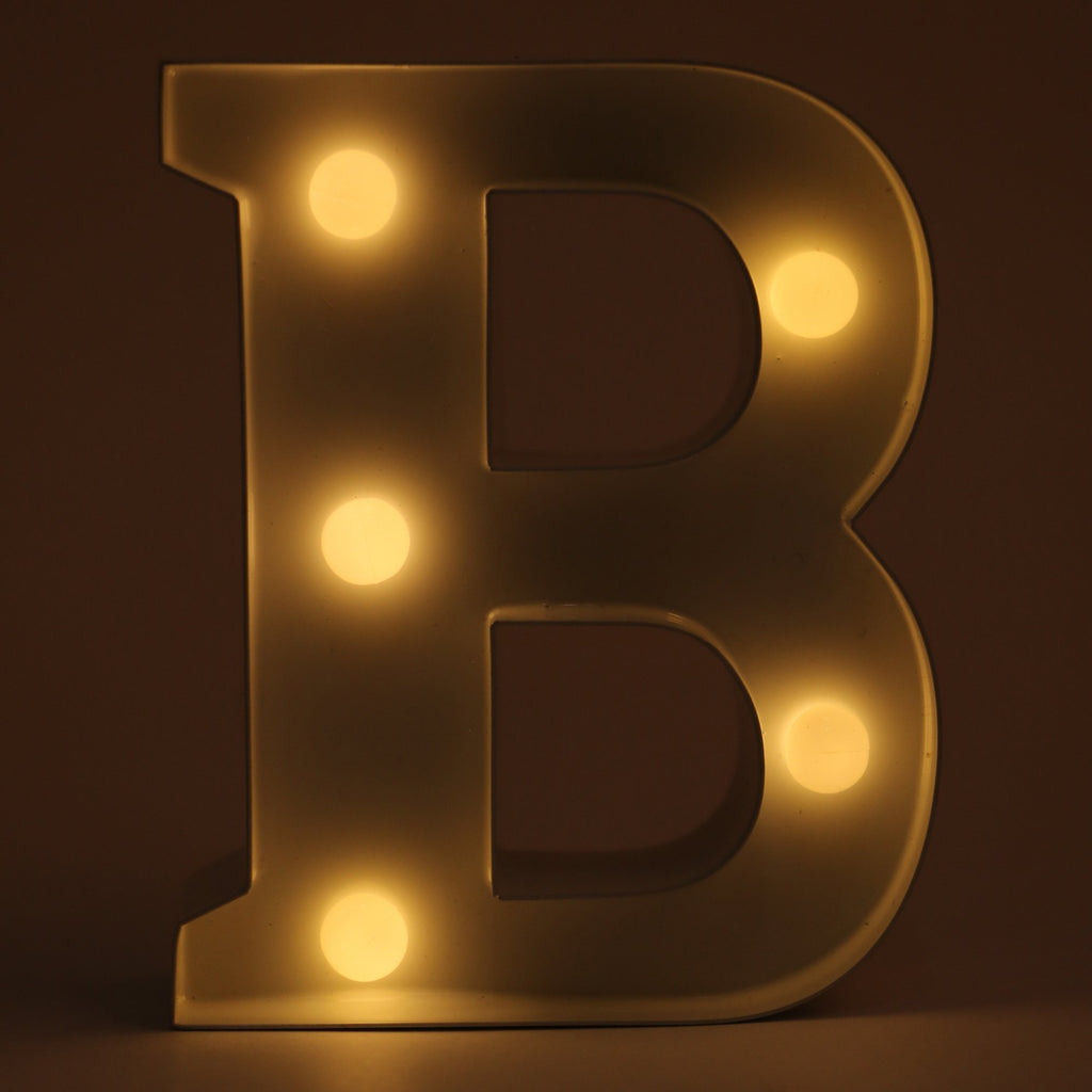 B letter shaped light from Hamster London. this product from Hamster London is sturdy and elegant and can be used as decoration pieces.