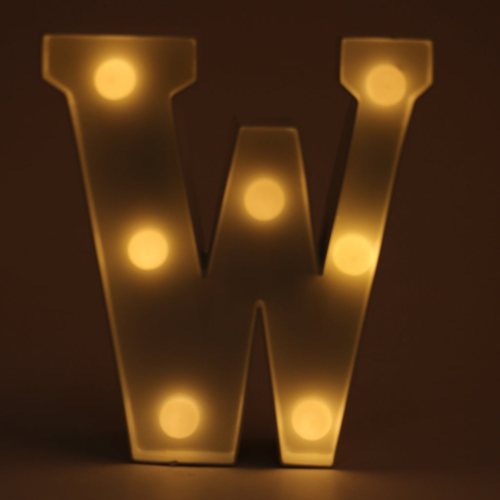 Alphabet LED Light (W)