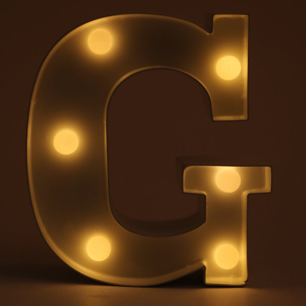 G  letter shaped light from Hamster London. this product from Hamster London is sturdy and elegant and can be used as decoration pieces.