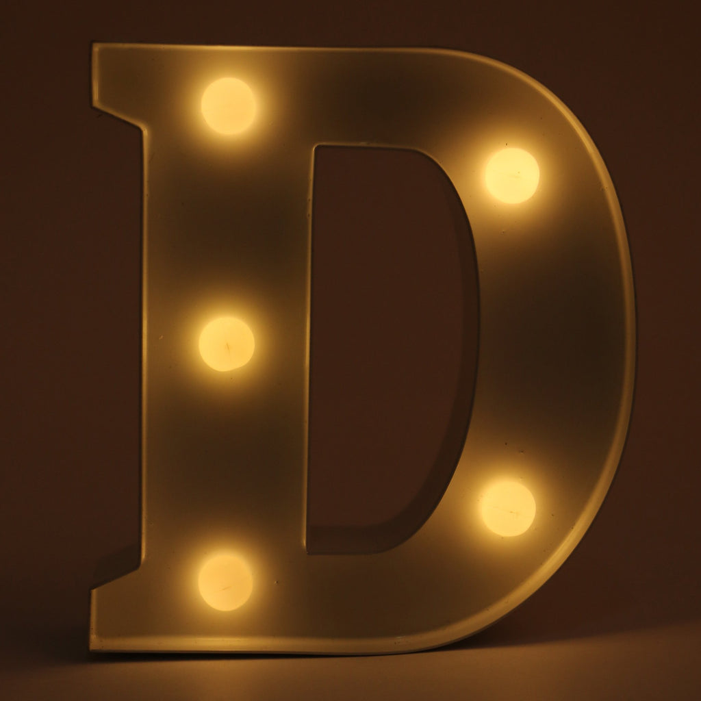 D letter shaped light from Hamster London. this product from Hamster London is sturdy and elegant and can be used as decoration pieces.